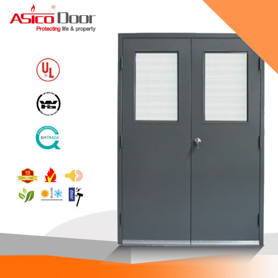 China Asico Swing Type Fire Door Set with Knock Down Frame - China ...