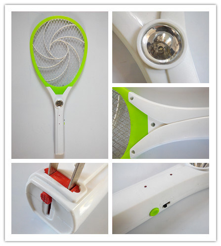 Insect Killer Racket with LED Light ABS Material Mosquito Bat pictures & photos
