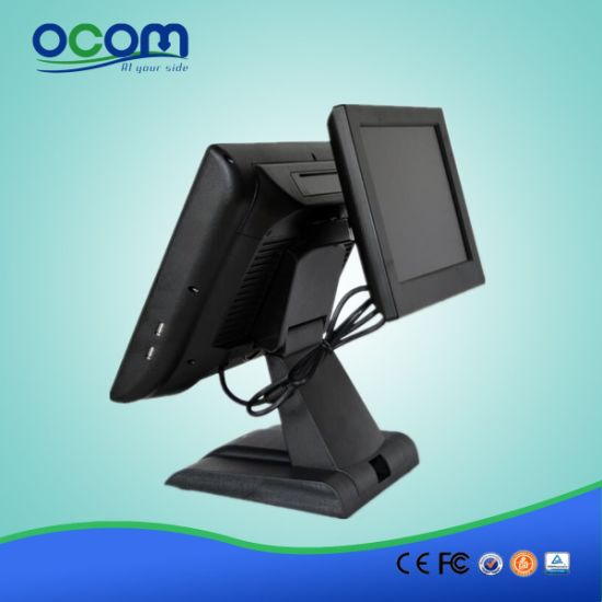 "15"" Dual Screen All in One POS Terminal Cash Register pictures & photos"