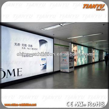Customized EL Advertisement Frameless Textile Fabric LED Light Box