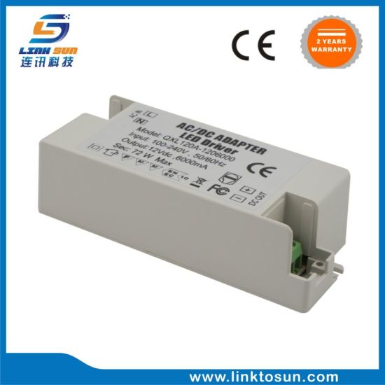Constant Voltage 72W 12V 6A Waterproof LED Driver