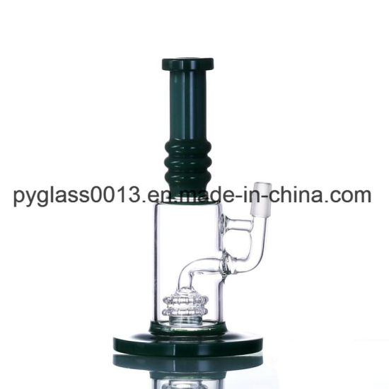 Top Sales Pink Glass Smoking Water Pipe with Showerhead Perc DAB Oil Rigs Bubbler Water Pipe