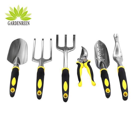 6 Piece Set Ergonomic Handles Garden Tools