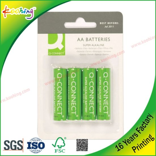 Box Sching Wire | China Battery Blister And Paper Card Packaging China Blister And