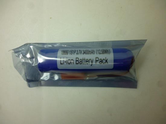 High Capacity 2200mAh to 3400mAh Lithium Ion Battery 18650 Cylinder Battery pictures & photos