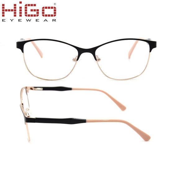 f9b8c4f046 China Stainless Front Rim Mixed Acetate Temple Metal Spectacle ...