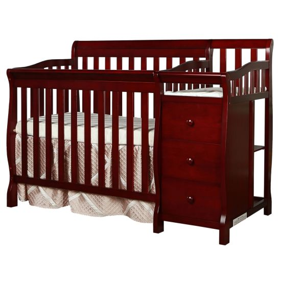 Baby Wooden Mini Crib and Changer