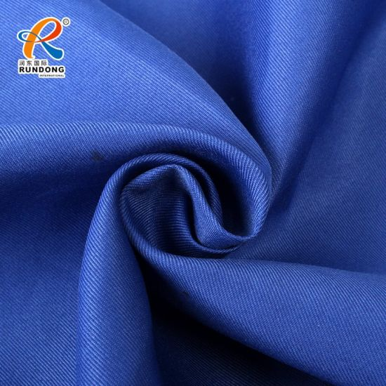 300d 100% Polyester Royal Blue Plain Dyeing Twill Fabric for Uniform