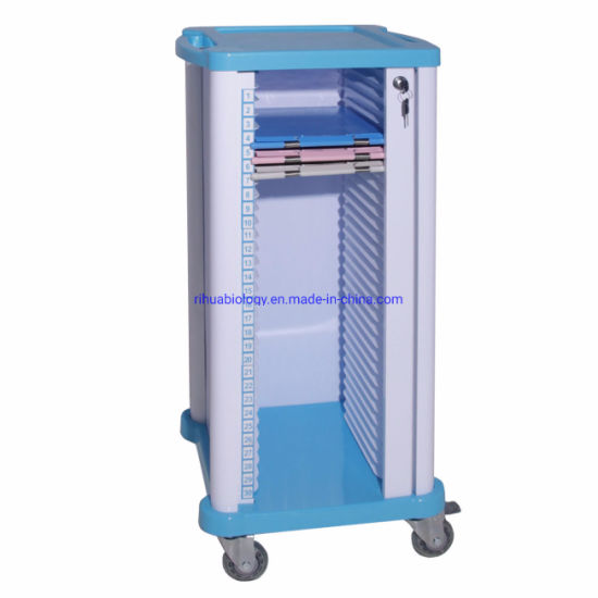 Hospital 450*410*960mm Separate Medical Records Car