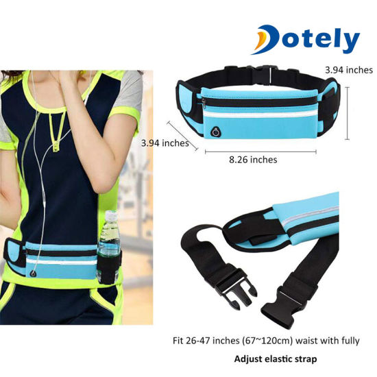 Waist Purse Chinese Style Red Unisex Outdoor Sports Pouch Fitness Runners Waist Bags