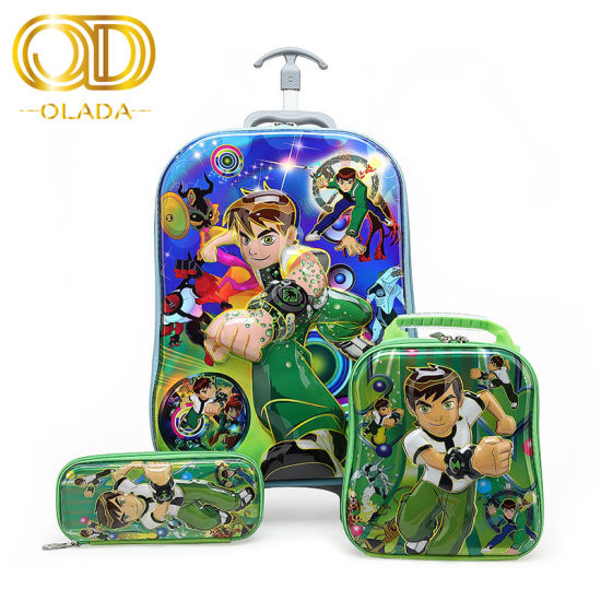 Olada Wholesale Hotselling New Style 2019 Fashion 3 in 1 Children Cartoon Backpacks 3 Sets Trolley Schoolbags pictures & photos