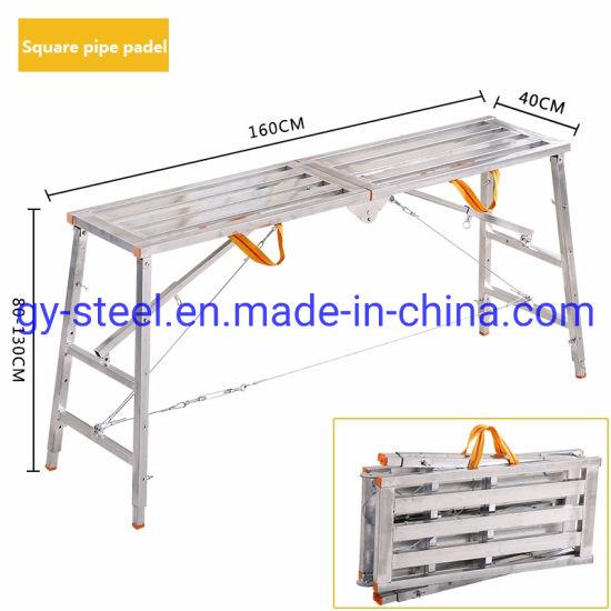 Non Slip Galvanzied Steel Scaffolding Ladder