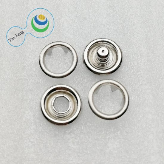 7.2mm Rhinestone Prong Metal Brass Snap Button for Shirt/Clothing/Jeans 111#