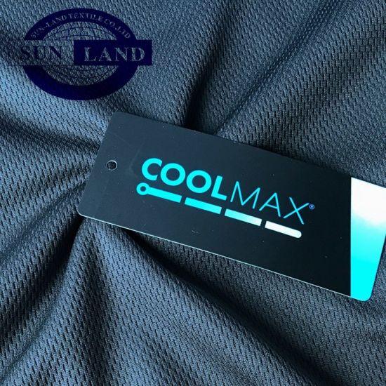 Summer Football Sport Training Shirt Clothing Gum Running T-Shirt Coolmax Active Moisture Birdeye Knitting Fabric