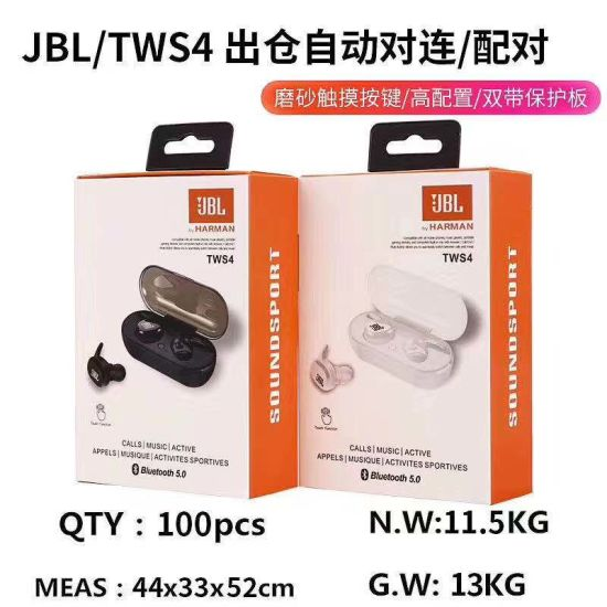 China Supper Bass Hifi Wireless Headphone For Jbl Tws4 With Touch China Headset And Stereo Headset Price