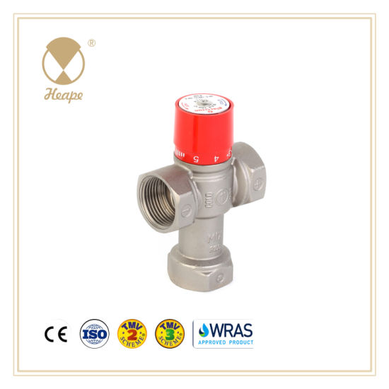 Heape Brass Water Thermostatic Mixing Valve with Data Line for Hardware