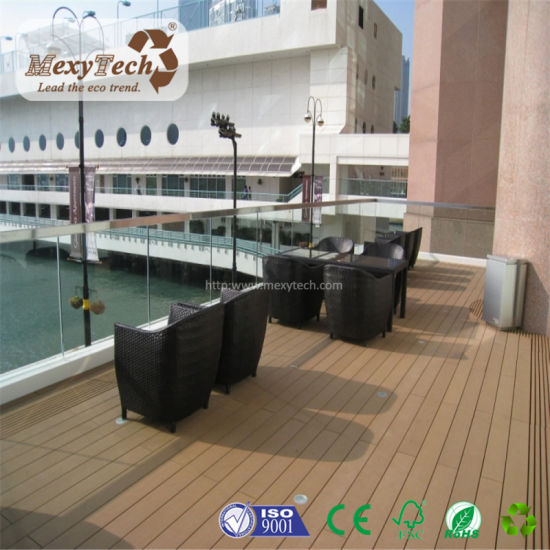 Outdoor Fireproof WPC Recycled Rubber Decking for Balcony pictures & photos