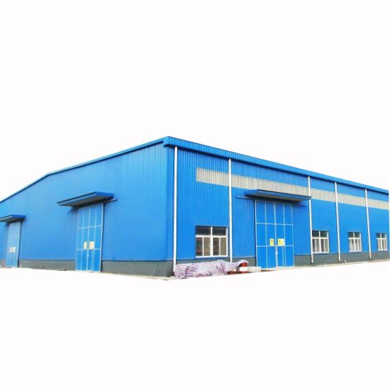 Prefabricated Light Weight Industrial Warehouse Structure Steel Building Hangar Workshop