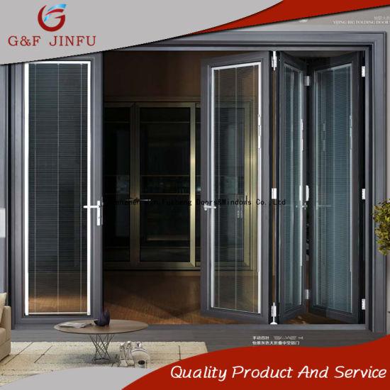 China Double Glazing Interior/Exterior Metal Folding Door with ...
