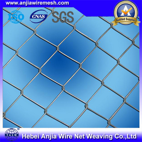PVC Coated Galvanized Iron Wire Mesh Chain Link Fence pictures & photos