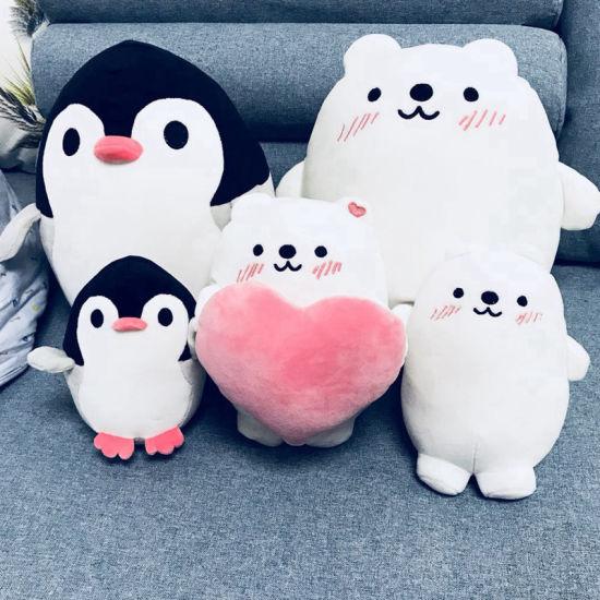 Soft Hippo Animal Stuffed Plush Dolls Birthday Gift Kids Baby Girlfriend Toy