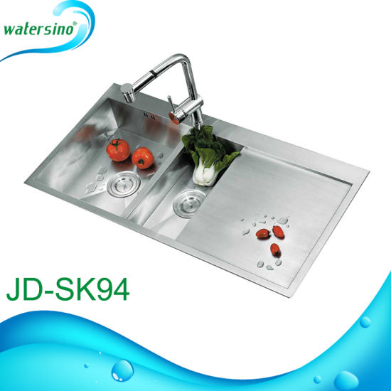 Jd-Sk82 Stainless Steel Double Bowl Kitchen Sink Faucet Basin pictures & photos