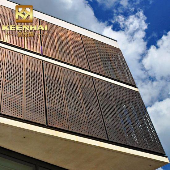 Exterior Decorative Aluminium Perforated Metal Curtain Wall Keenhai Cw006