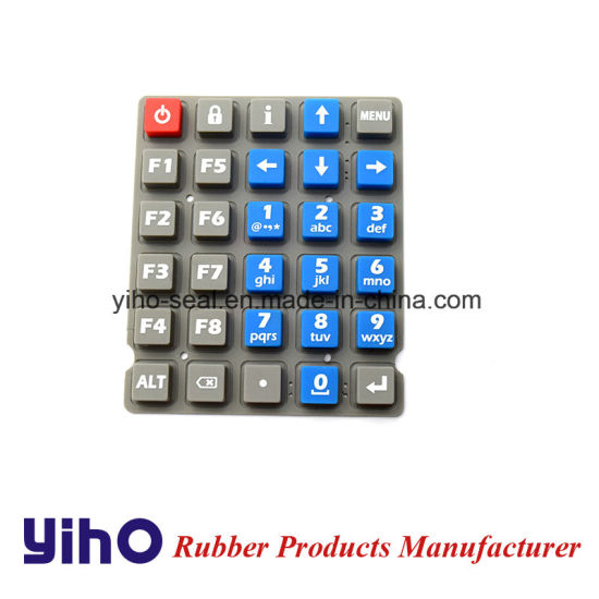 Custom Silicone Rubber Keypad Via 3D or CAD Drawing