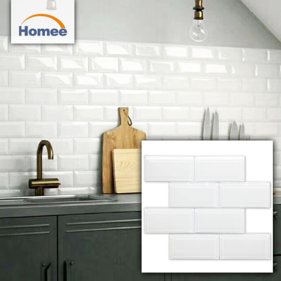 China Outdoor Decorative Wall Tiles Kitchen Designs White Glass Subway Tile China Building Material Decoration Material