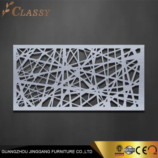 Hotel Wall Decoration Stainless Steel Laser Cutting Parts