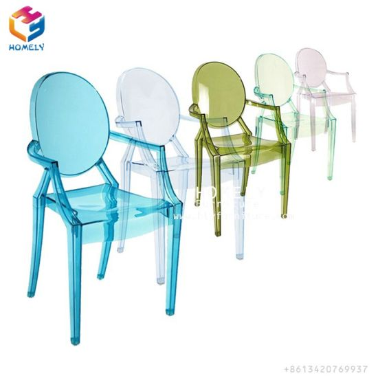 Transpa Clear Resin Acrylic Ghost Chair With Armrest