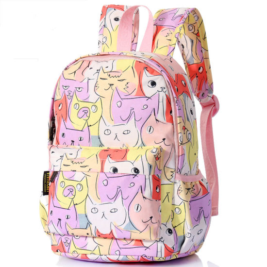 190ce093c958 2018 PVC PU and Polyester Wholesale New Design Girl Child Backpack Kids  School Bag for Teenagers