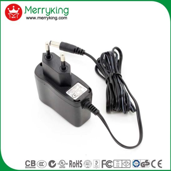 EU Wall Mount Type Power Supply Europe 24V 0.2A AC DC Adapter with Ce GS CB Certificate