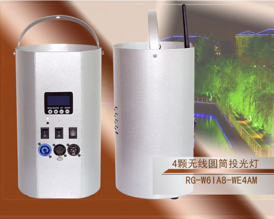 New LED Wireless Battery Cylinder Light 4*8W RGBW 4 in 1 LED Wall Wash Light pictures & photos
