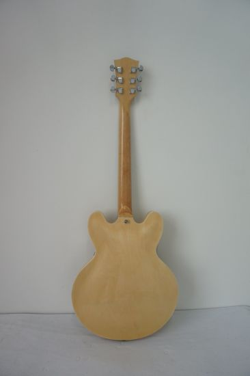 Wholesale Semi Hollow Spalted Maple Electric Jazz Guitar for Sale pictures & photos