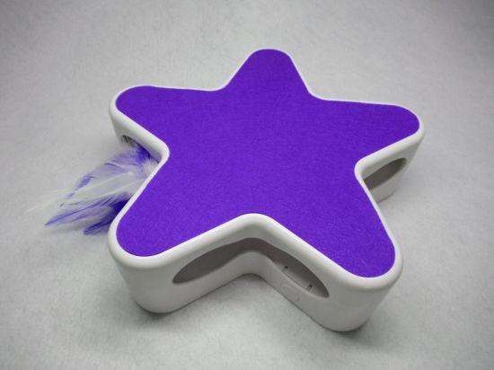 Purple Smart Random Rotating Feather Interactive Toy