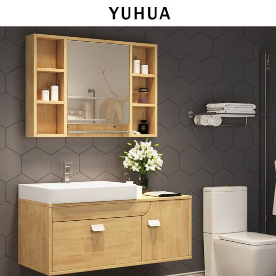 Bathroom Furniture Wall Mounted Solid Wooden Vanity Cabinet Yh Vc5006