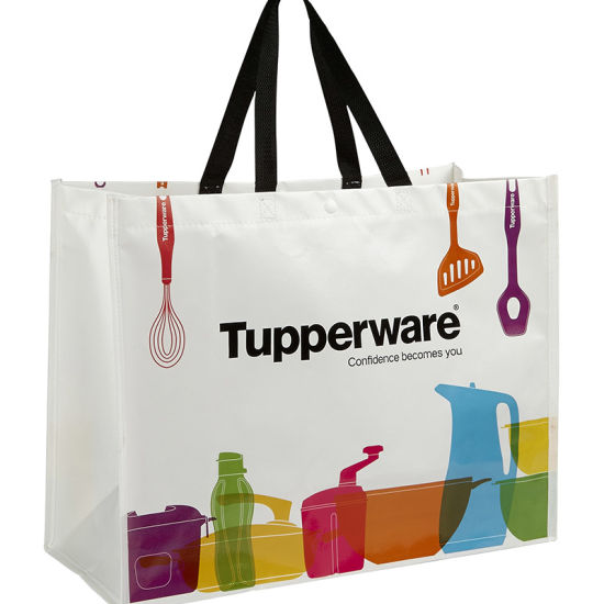Recycle Opp Film Lamination Pp Non Woven Tote Bag Yh Pwb059