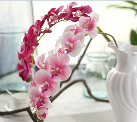 China Cheap Silk Artificial Orchidphalaenopsis Flowers For Wedding