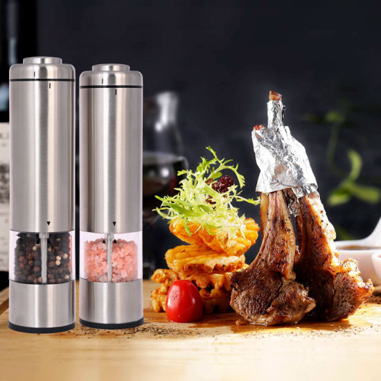 Durable Electric Stainless Steel Salt and Pepper Spices Mill Grinder Customized Electric Pepper Grinder