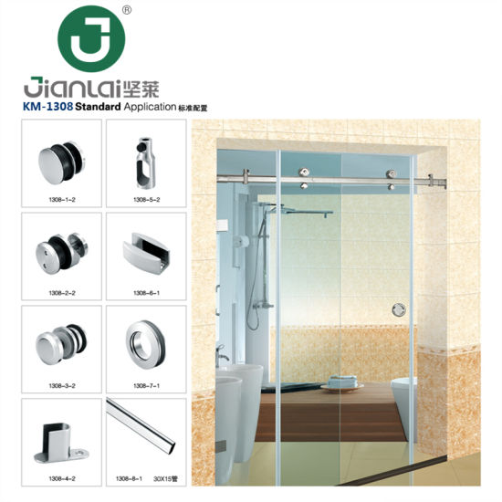 Frameless Glass Bathroom Sliding Door Cabin Enclosure Fittings