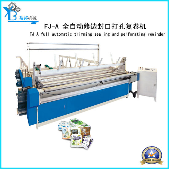 Automatic Trimming Sealing and Perforating Toilet Paper Rewinding Machine pictures & photos