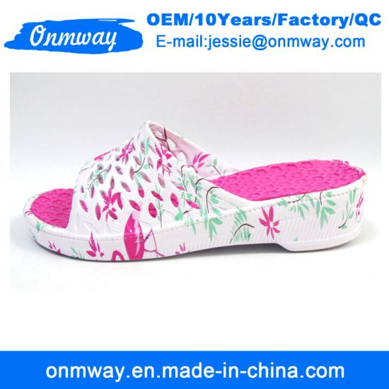 Three Colours Flowes of Women EVA Slippers