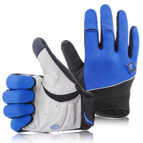 Elasticized Fabric Cycling Gloves Mountain Bike Gloves Road Racing Touch Recognition Full Finger Bicycle Gloves Man Women