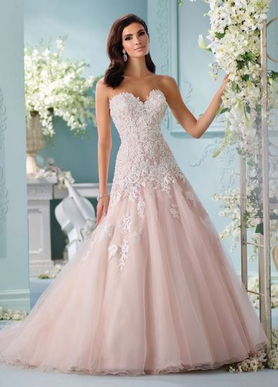 e047991c0710 China Strapless Bridal Wedding Gown Pink Blush Wedding Dresses ...