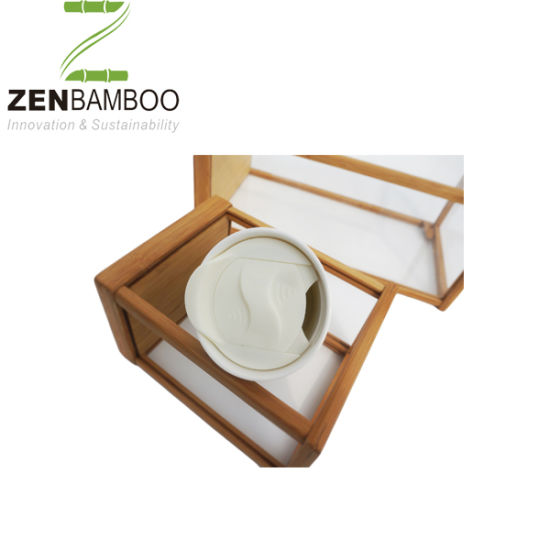 China Bamboo Cup With Silicon Cover For Water China Cup Bamboo Cup