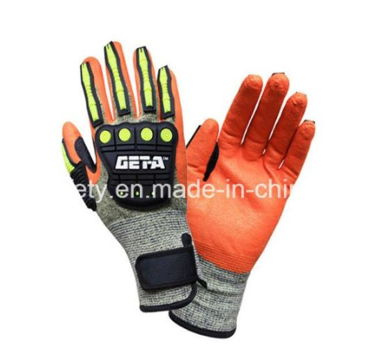 Aramid Fiber and Steel Fiber Specialty Hand Protection Anti Vibration Anti-Impact Safety Glove