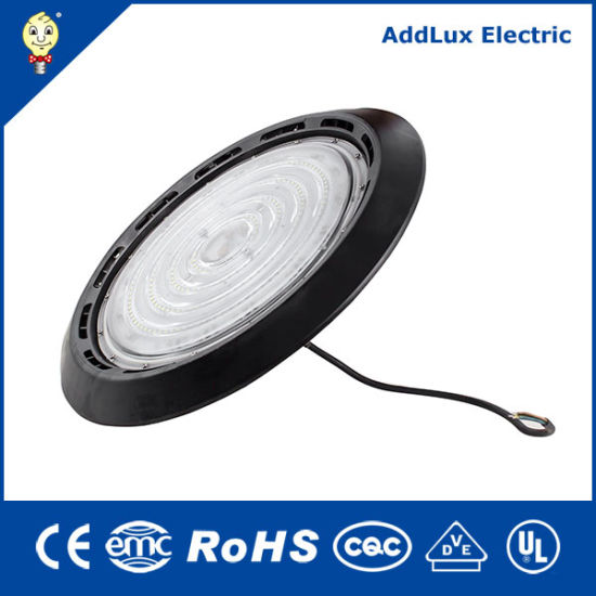 Saso Ce UL UFO IP65 200W LED High Bay Light Made in China for Outdoor, Street, Garden, Park, Exterior Lighting From Best Distributor Factory