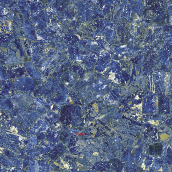 China Polished Azul Bahia Blue Marble Ceramic Flooring Tile