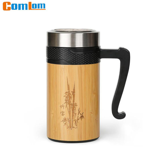 f2db8c3155e CL1C-D25 Comlom Stainless Steel Bamboo Travel Mug pictures & photos